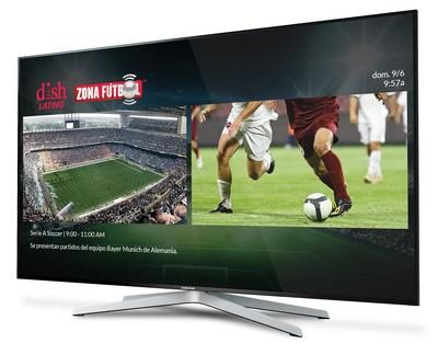Zona Fútbol ofrecerá una pantalla dividida, para ver dos partidos a la vez. (PRNewsfoto/DISH Network Corporation)