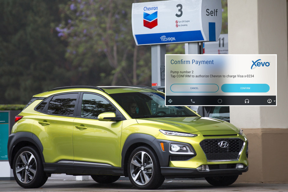 Hyundai and Xevo Team Up with Chevron®, Applebee's® and ParkWhiz to Showcase In-Car Payment at TU-Automotive Detroit