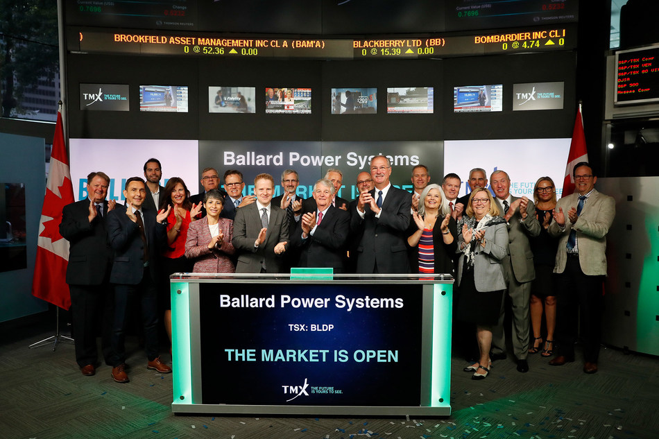 Ballard Power Systems Inc. Opens the Market (CNW Group/TMX Group Limited)