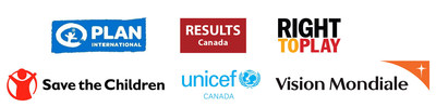 Plan International, RESULTS Canada, Right To Play, Save the Children, UNICEF Canada, Vision Mondiale (Groupe CNW/World Vision Canada)