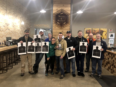 Veterans interested in the challenge of handgun training and target practice gathered during a recent Wounded Warrior Project® class at the Stock & Barrel Gun Club. This stress-relieving activity offered warriors camaraderie and a chance advance their handgun shooting skills.