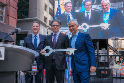 CNA celebrated the official opening of its new, modern global headquarters located at 151 North Franklin Street in the heart of Chicago's Loop business district.