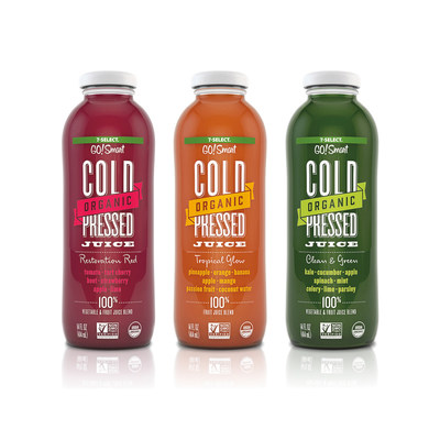7-Select GO!Smart Cold Pressed Juice: Design by Brandimage
