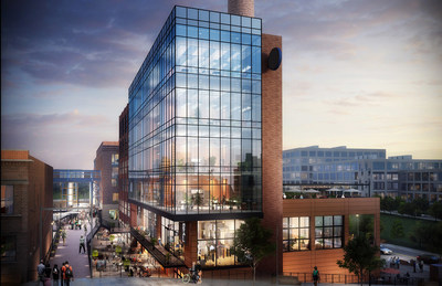 The original 10,000 square foot Building 23-1 of Bailey Power Plant will be redeveloped and wrapped with an additional 55,000-65,000 square feet of new retail and office space in Winston-Salem's Innovation Quarter.