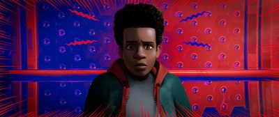 Shameik Moore voices the role of Miles Morales in Spider-Man(tm): Into the Spider-Verse.