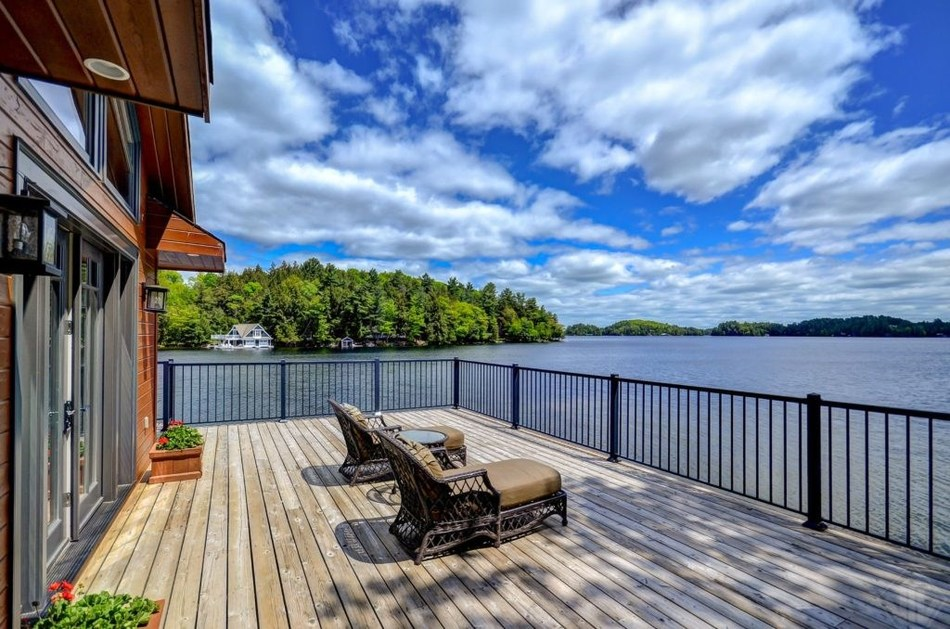 1082 Halls Rd Unit 5, Port Sandfield, ON | $4,695,000 | Bedrooms: 7 | Bathrooms: 4 | Living Area: 2,932 sq. ft. | Lot Size: 3.94 acres | Listing Agent: Bob Clarke, Royal LePage Lakes of Muskoka – Clarke Muskoka Realty (CNW Group/Royal LePage Real Estate Services)