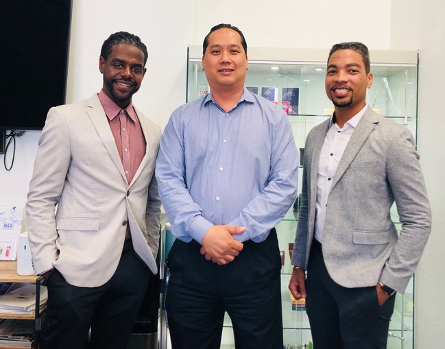 (L-R) James Victor, co-founder of James Henry, Dr. Bao Le, CEO and co-founder of BAS Research, John Alston, co-founder of James Henry SF