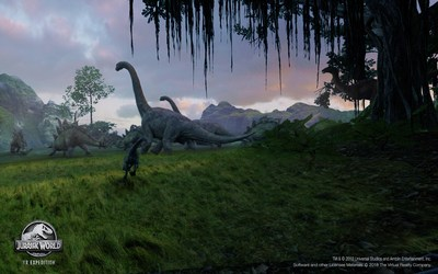 Jurassic World VR Expedition, The Virtual Reality Company development team of Academy Award-winning and -nominated animators, visual effects artists, and technicians took a novel approach to VR, combining VFX and gameplay to achieve the level of integrity expected of cinematic-quality VR. Written and directed by James Lima, a multi-Emmy Award-nominated visual effects artist; executive produced by VRC co-founders Robert Stromberg, a two-time Oscar winner, and entertainment executive Guy Primus.