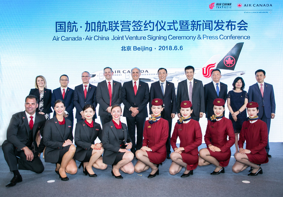 Air Canada - Air China Joint Venture Signing Ceremony & Press Conference - Beijing 2018.6.6 (CNW Group/Air Canada)