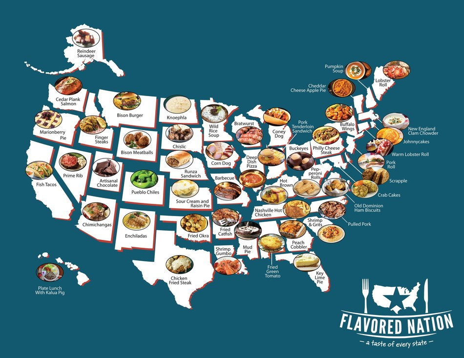 Through extensive research conducted by a team of culinary experts and food entertainment veterans, Flavored Nation has identified the most iconic foods from across the United States. Those 50 dishes – as well as a roster of top restaurateurs and chefs – will assemble in Columbus, OH, August 11-12. Event attendees will experience, for the first time ever in the history of food events, the chance to feast from sea to shining sea. A true culinary tour of America.