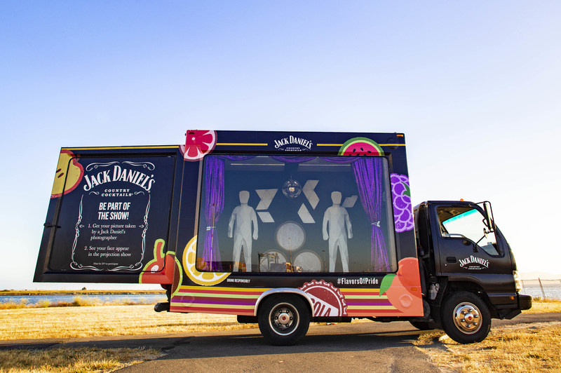 JACK DANIEL'S COUNTRY COCKTAILS DEBUTS FIRST-EVER PROJECTION MAPPING SHOWTRUCK AT LA PRIDE FESTIVAL Photo credit: Jack Daniel's