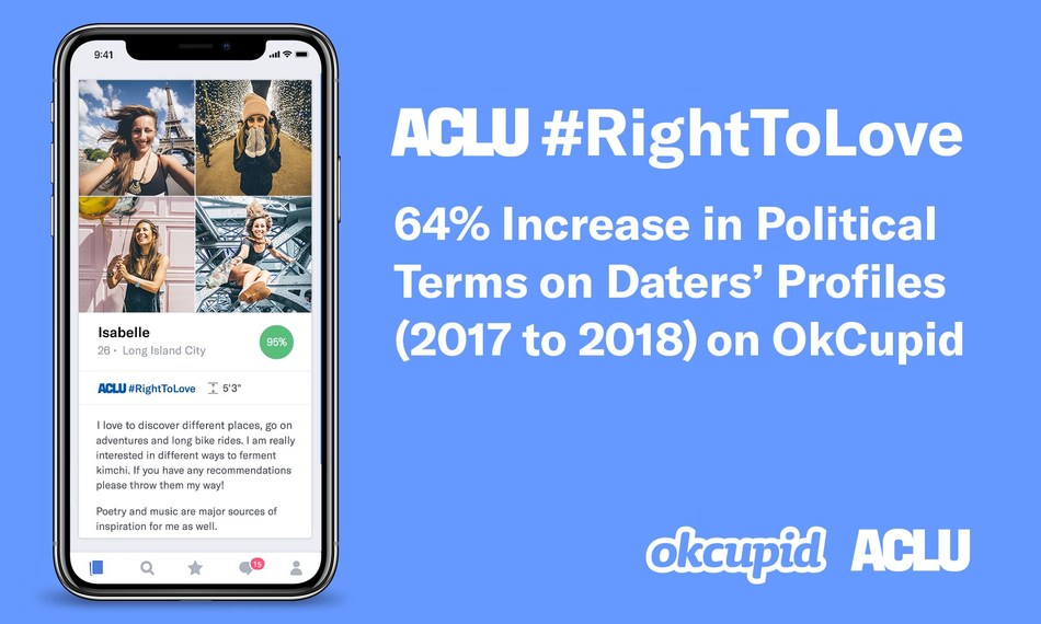 OkCupid partners with ACLU on #RightToLove Profiles Badge