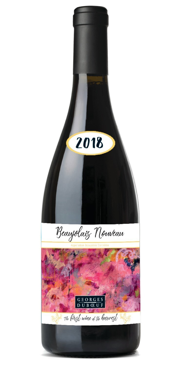 Georges Duboeuf unveils 2018 Beaujolais Nouveau bottle label with original art by Nashville, TN native Chloé Meyer, winner of the famed French wineries' popular Artist's Label Competition.