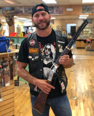 "Donald ""Cowboy"" Cerrone with a Henry Big Boy lever action rifle in .44 Magnum."