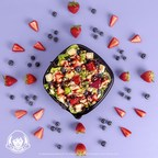Wendy's adds the Berry Burst Chicken Salad to its lineup of freshly made salads this summer. Featuring hand-cut strawberries, juicy blueberries, tangy feta cheese, toasted almonds and freshly grilled all-white meat chicken breasts, this summer salad packs 41 grams of protein, 4 grams of fiber, a full day's worth of vegetables and a serving of fruit, so you can eat smart and delicious on-the-go.