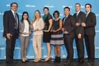 De gauche à droite : Alejandro Adem, Ghalia Baki, Erin Goldberg, Natacha Mainville (au nom de Calvin Cheng), Alli Murugesan, Roger Mah, Maxim Bergeron et Mathieu Kirouac. (Groupe CNW/Mitacs Inc.)