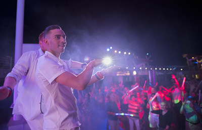 Olympic Bronze Medalist Adam Rippon served as an ambassador for Celebrity Cruises' second annual Pride Party at Sea, joining in on the festivities while sailing on board Celebrity Summit.