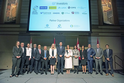 Leading global institutional investors, led by Caisse de dépôt et placement du Québec and the Ontario Teachers' Pension Plan, in collaboration with the Government of Canada, today announced an ambitious project to advance key G7 objective at the Design Exchange, Toronto, Canada. (CNW Group/Ontario Teachers' Pension Plan)