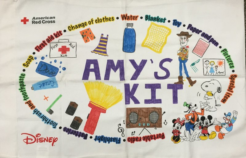 After the Pillowcase Project, students decorate their pillowcases to hold their emergency preparedness supplies.