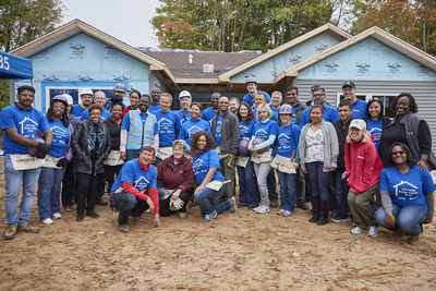 Whirlpool Corporation employees participate in Habitat for Humanity build.