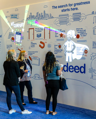 When attendees touched one of twenty-six orange touch points, they were surprised and delighted by animated projection overlays that captured brand messages in a fun and engaging way. Most users interacted with every single touchpoint, leading to complete immersion in the brand story.
