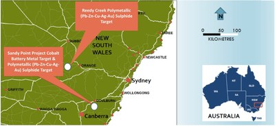 Fig 1: Location: New South Wales (CNW Group/Bluebird Battery Metals)