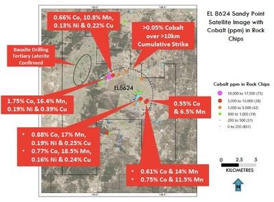 Figure 3: Sandy Point Cobalt Tenement (CNW Group/Bluebird Battery Metals)