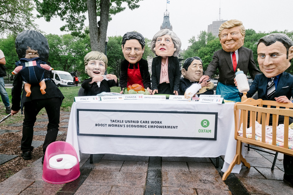 Oxfam calls on the G7 to tackle both gender and economic inequalities (CNW Group/OXFAM-QUEBEC)