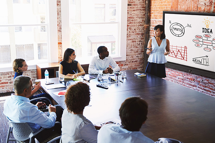 ViewSonic® IFP60 Series with ViewSonic myViewBoard Whiteboarding software delivers a powerful enterprise solution for collaboration in small to large business environments. (CNW Group/ViewSonic)