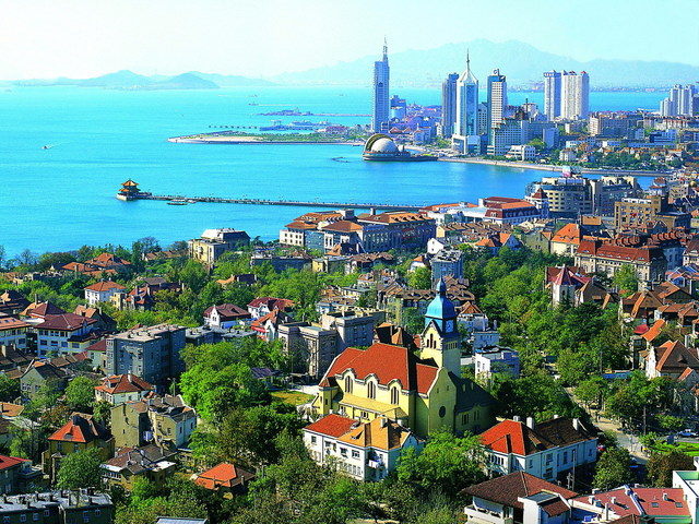 Qingdao, one of China's most famous coastal cities