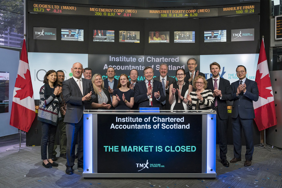 Institute of Chartered Accountants of Scotland Closes the Market (CNW Group/TMX Group Limited)