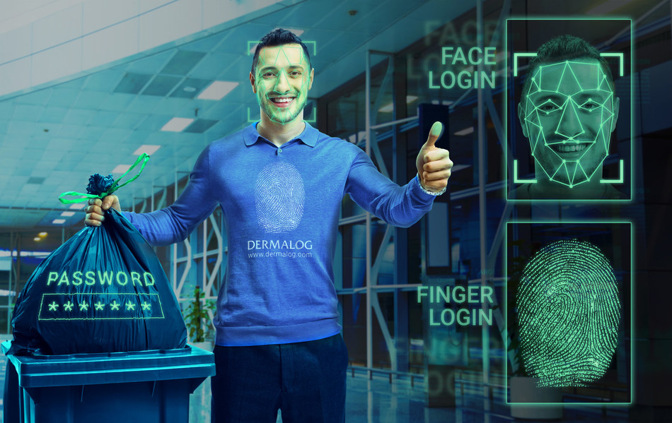 With DERMALOG's Biometric Login, passwords are a thing of the past. Photo credit: DERMALOG (PRNewsfoto/Dermalog Identification Systems)
