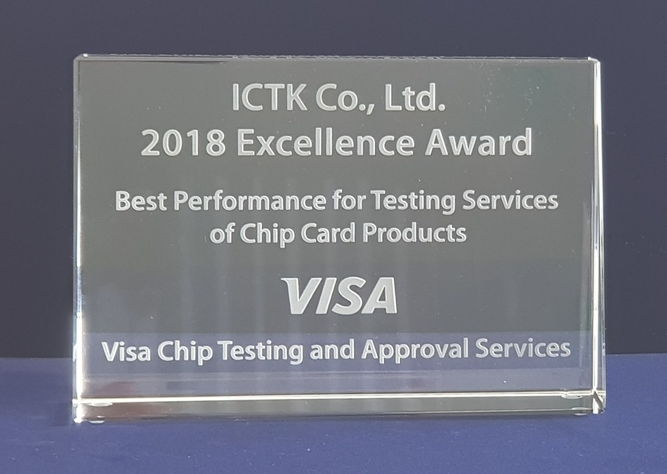 Excellence Award - Best Performance for Testing Services of Chip Card Products for VISA (PRNewsfoto/Bureau Veritas Consumer Products)