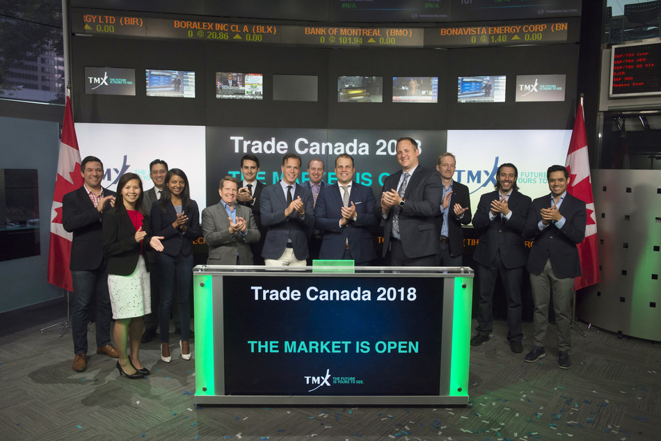 Trade Canada 2018 Opens the Market (CNW Group/TMX Group Limited)