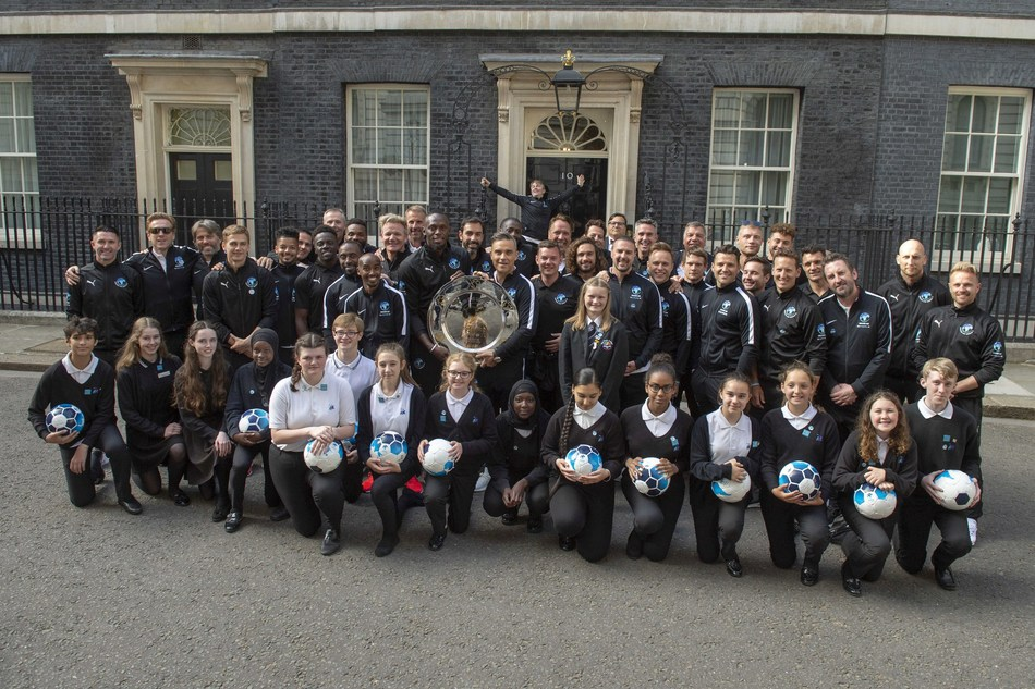 The exclusive Asprey Shield was specially presented at 10 Downing Street, on Wednesday 6th June, to the celebrity teams (PRNewsfoto/Asprey)