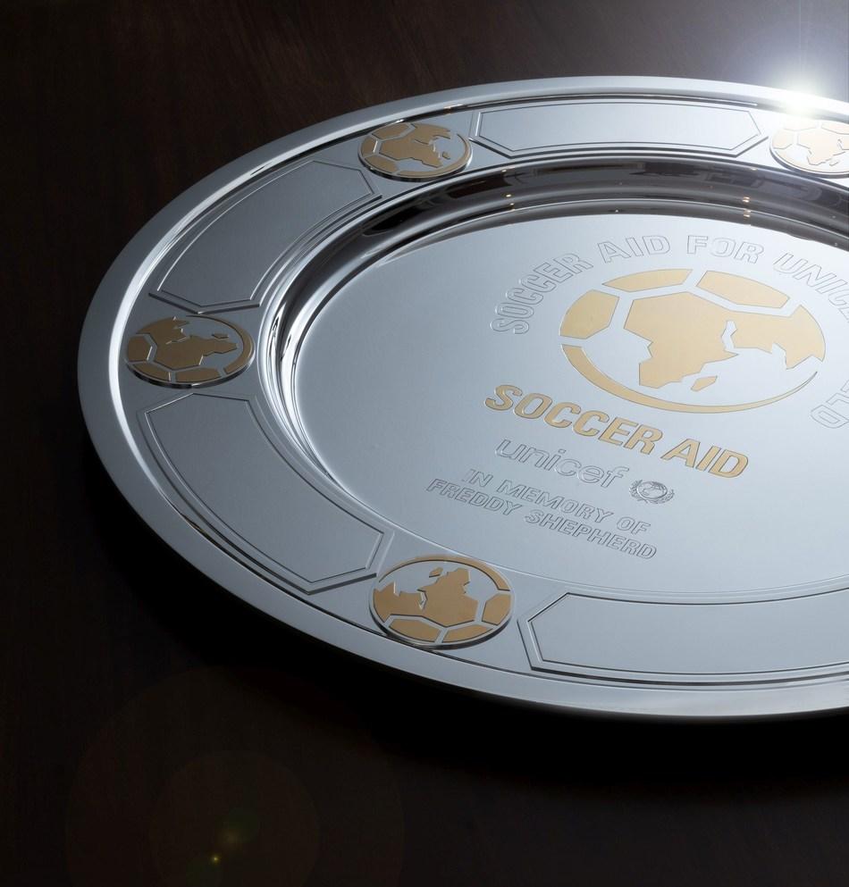 Asprey creates the winning shield for Soccer Aid UNICEF (PRNewsfoto/Asprey)