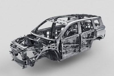 Le VUS GS8, qui intègre la technologie d'absorption d'énergie de collision de deuxième génération GAC (Geometric Absorption Control), offre une cabine de conduite en acier haute résistance à plus de 95 pour cent. La résistance à la compression qui en résulte dépasse de loin les exigences réglementaires. (PRNewsfoto/GAC Motor)