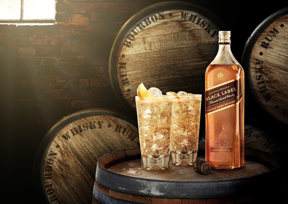 Johnnie Walker Black Label Triple Cask Edition is a limited-edition whisky inspired by the smooth and deep character of the iconic Johnnie Walker Black Label. It is a global travel exclusive to Dufry stores only. (PRNewsfoto/Johnnie Walker)