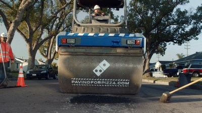 Customers interested in nominating their town for a paving grant from Domino's can enter the zip code at pavingforpizza.com. If their town is selected, the customer will be notified and the city will receive funds to help repair roads so pizzas make it home safely.