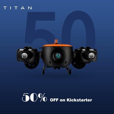 Titan, the Underwater Drone raised over $50,000 in 3 days on Kickstarter