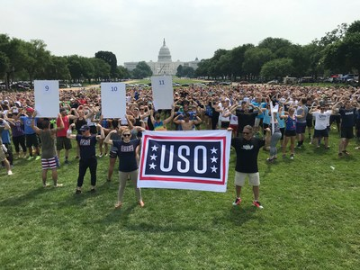 USO #Flex4Forces Campaign Breaks GUINNESS WORLD RECORDS™ Title at 'Flex on the Mall'