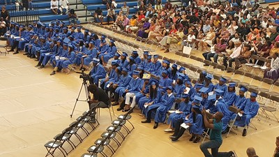More than 1400 students, family members friends and we'll-wishers attended Chester Community Charter School's eighth-grade graduation ceremonies, at Neumann University, in Aston, PA.