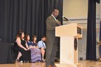 "Hon. Thaddeus Kirkland, mayor, city of Chester presented Chester Community Charter School's commencement addresses to 220 eighth-grade graduates, at Neumann University. The Mayor's message: It's time for the grads to move beyond just talking about their future success and to start ""being about"" such success, every day."