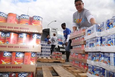 Goya hace donación inicial de tres toneladas de alimentos para víctimas del volcán en Guatemala (PRNewsfoto/Goya Foods)