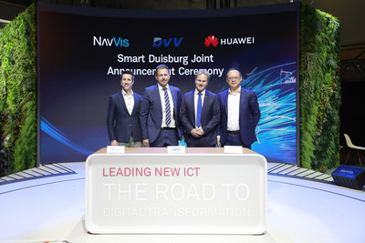 """Huawei and the DU-IT GmbH, a municipal subsidiary of Duisburger Versorgungs- und Verkehrsgesellschaft mbH (DVV) signed a Framework Agreement on the """"Rhine Cloud"""" brand and Smart City services"""