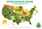 Green Giant conducted a survey to find America's favorite veggies by state