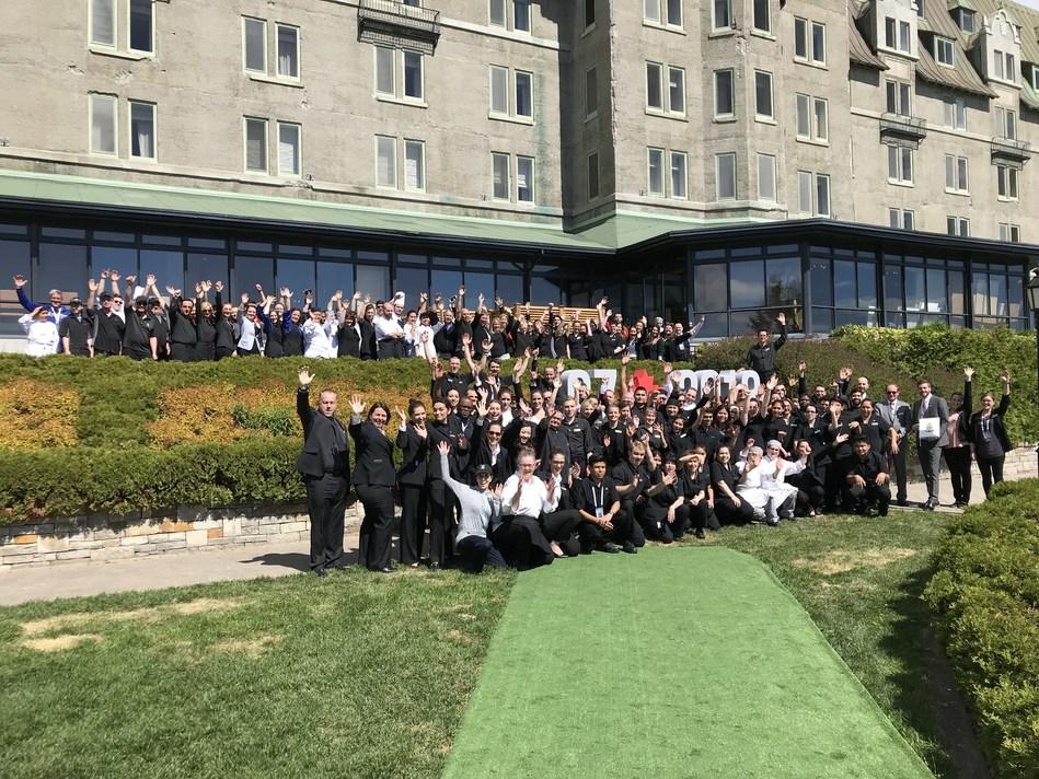 L'équipe du Manoir Richelieu est fière d'avoir accueilli les leaders des pays membres du G7 dans leur magnifique environnement. (Groupe CNW/Fairmont Le Reine Elizabeth)
