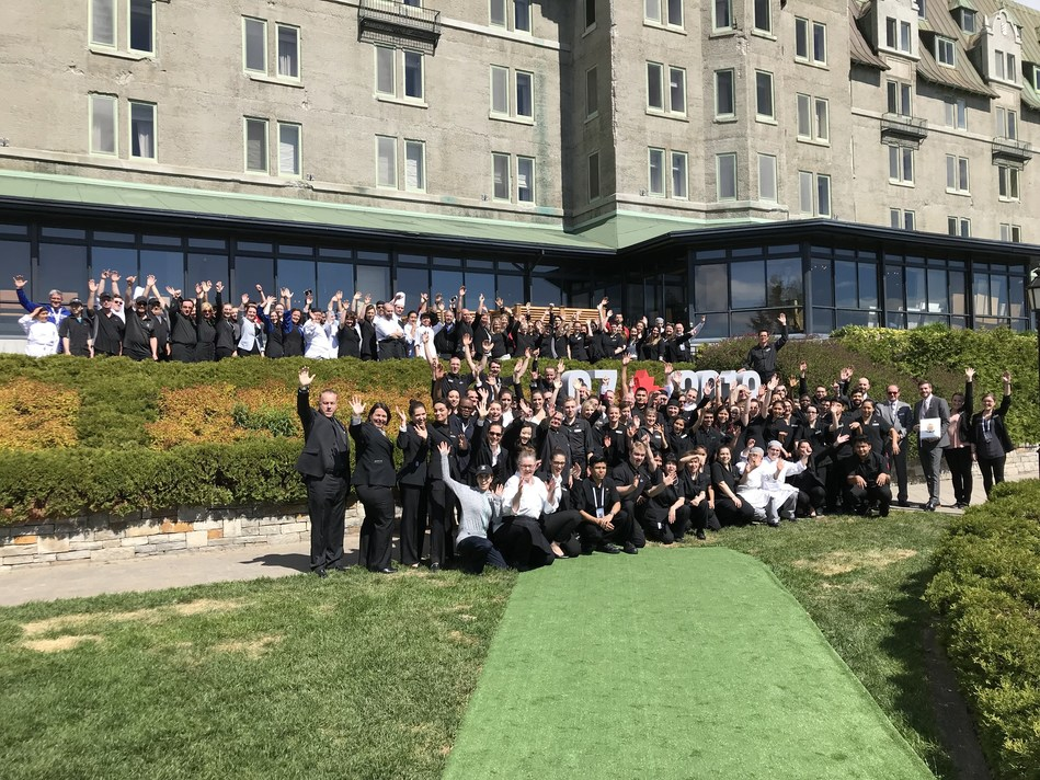 Colleagues of Fairmont Le Manoir Richelieu are proud to have welcomed the G7 leaders in their beautiful region. (CNW Group/Fairmont The Queen Elizabeth)
