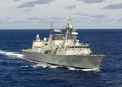 Lockheed Martin Canada has been awarded a 3-year extension to its In-Service Support contract for the 12 Canadian-built Halifax-class multi-role patrol frigates. Picture is of Her Majesty's Canadian Ship Calgary (FFH-335).