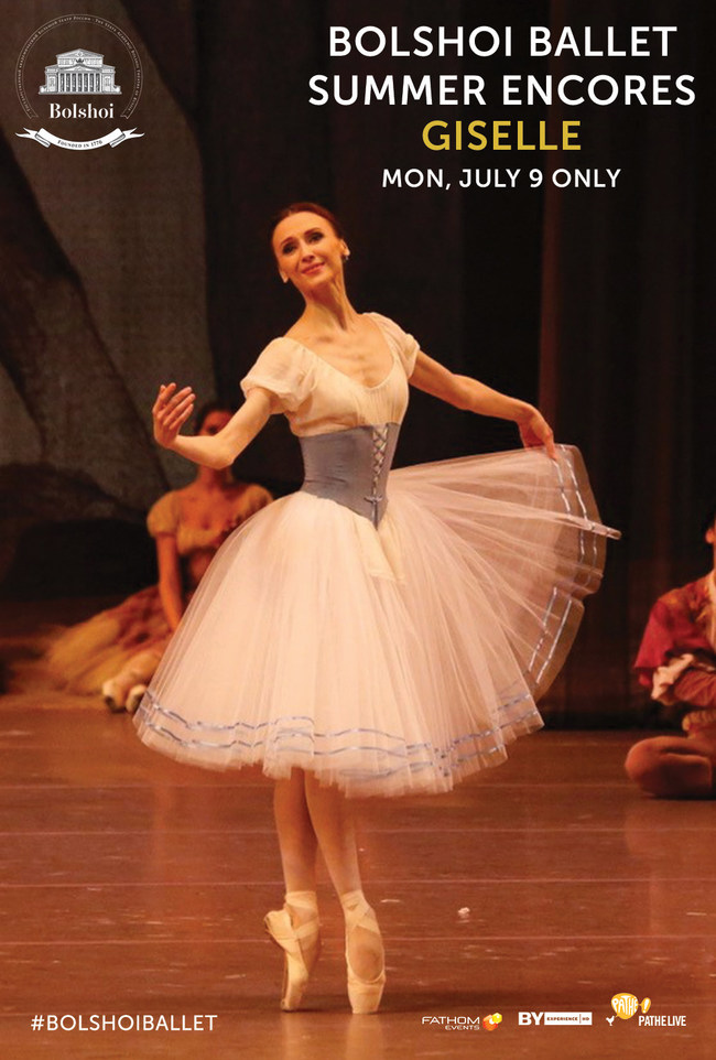 Bolshoi Ballet Summer Encores: Giselle, Monday, July 9 only